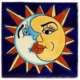 OM 452 Sonne-Mond - 11x11 cm - Mexiko Fliese