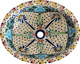 Belleza - Einbauwaschbecken oval groß aus Mexiko