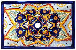 ACAPULCO - MEX6 Aufsatzwaschbecken aus Mexiko rechteckig