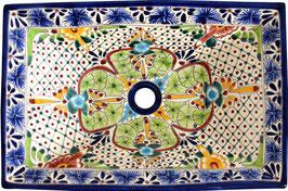 AVENTURA - MEX6 Aufsatzwaschbecken aus Mexiko rechteckig