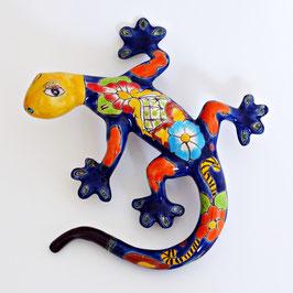 Gecko aus Keramik - Mexiko Eidechse - Bunt/Blau A