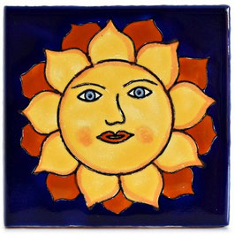 OM 451 Sonne - 11x11 cm - Mexiko Fliese