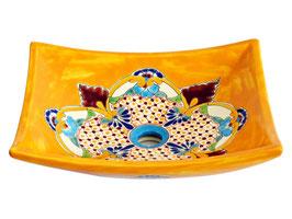 PUEBLA - MEX1 Aufsatzwaschbecken eckig aus Mexiko