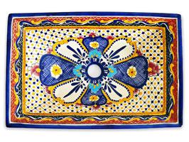 MAYA - MEX6 Aufsatzwaschbecken aus Mexiko rechteckig