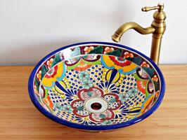 FRIDA - MEX5 Aufsatzwaschbecken aus Mexiko groß rund