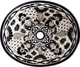 SANTIAGO - MEX7 Aufsatzwaschbecken oval aus Mexiko