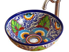 MEXICO - MEX3 Aufsatzwaschbecken rund aus Mexiko