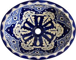 MARINO - Einbauwaschbecken oval groß aus Mexiko