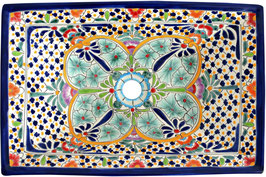 CARIBE - MEX6 Aufsatzwaschbecken aus Mexiko rechteckig