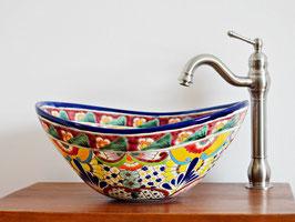 FRIDA - MEX7 Aufsatzwaschbecken oval aus Mexiko