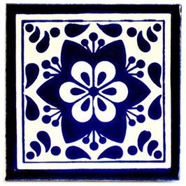 OC 268 Blau - 11x11 cm - Mexiko Fliese