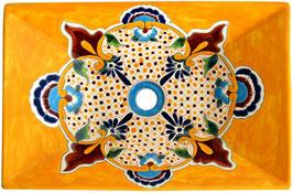 PUEBLA - MEX6 Aufsatzwaschbecken aus Mexiko rechteckig