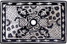 SANTIAGO - MEX6 Aufsatzwaschbecken aus Mexiko rechteckig