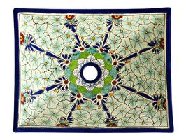 PASION - MEX1 Aufsatzwaschbecken eckig aus Mexiko