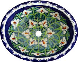 Calla - Einbauwaschbecken oval groß aus Mexiko