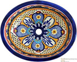 MAYA - Einbauwaschbecken oval aus Mexiko