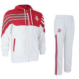 разминочный баскетбольный костюм НБА команды Хьюстон Рокетс цвет белый