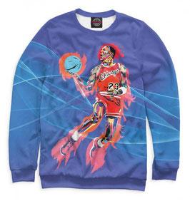 кофта NBA синяя Чикаго Булс Майкл Джордан