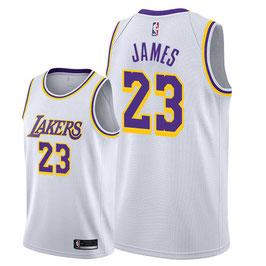 Лос-Анджелес Лейкерс  № 23 Леброн Джеймс белая баскетбольная майка NBA