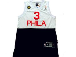 ФИЛАДЕЛЬФИЯ 76 № 3  ALLEN IVERSON черно-белая SWINGMAN РЕТРО баскетбольная майка NBA
