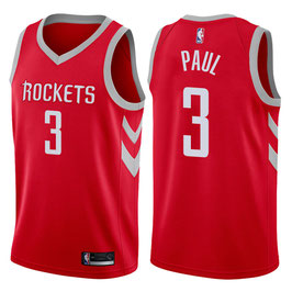 Баскетбольная майка NBA Хьюстон Рокетс № 3 Крис Пол красная выездная SWINGMAN