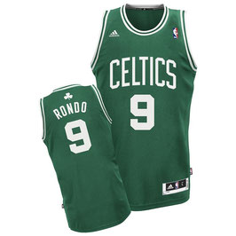 Баскетбольная майка Бостон Селтикс № 9 зеленая РОНДО РЭДЖОН / RONDO RAJON SWINGMAN REV30