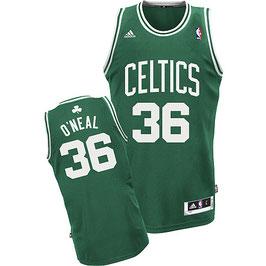 Баскетбольная майка Бостон Селтикс № 36 Шакил ОНил зеленая гостевая SWINGMAN REV30