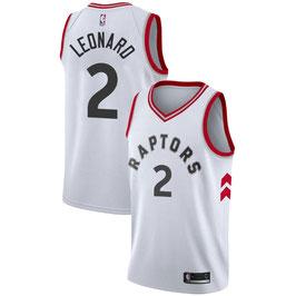 Баскетбольная майка НБА Toronto Raptors #2 белая Kawhi Leonard свингмен
