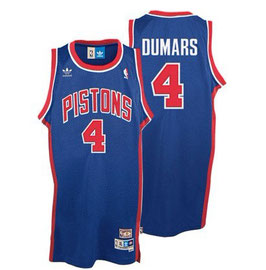 DETROIT PISTONS № 4  JOE DUMARS синяя SWINGMAN РЕТРО баскетбольная майка NBA