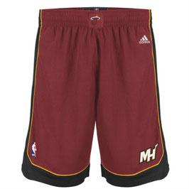 Баскетбольные шорты НБА Майами Xит красные SWINGMAN REV30