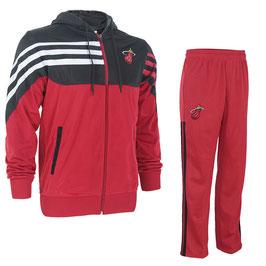 разминочный баскетбольный костюм НБА команды Майами Хит цвет красный