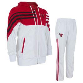 купить разминочный костюм НБА команды Чикаго Булс цвет белый/красный