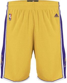 Баскетбольные шорты NBA Лос Анджелес Лейкерс LA LAKERS желтые SWINGMAN REV30
