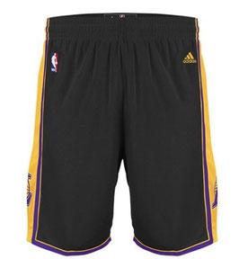 Баскетбольные шорты NBA Лос Анджелес Лейкерс LA LAKERS черные SWINGMAN REV30