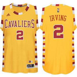 Баскетбольная майка Кливленд Кавальерс / Cleveland Cavaliers желтая РЕТРО  № 2 Кайри Ирвинг SWINGMAN REV30