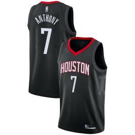 Баскетбольная майка NBA Хьюстон Рокетс № 7 Кармело Энтони черная SWINGMAN
