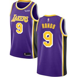 Лос-Анджелес Лейкерс  № 9 Рэджон Рондо фиолетовая баскетбольная майка NBA