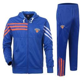 разминочный баскетбольный костюм НБА команды Нью-Йорк Никс цвет синий