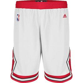 Купить баскетбольные шорты Чикаго Булс белые NBA SWINGMAN REV30