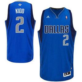 Баскетбольная майка NBA Даллас Маверикс № 2 Джейсон Кидд синяя SWINGMAN REV30