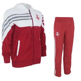 разминочный баскетбольный костюм НБА команды Хьюстон Рокетс цвет красный