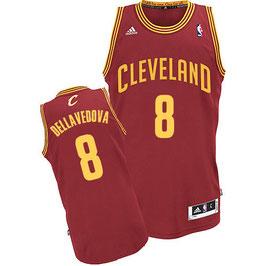 Баскетбольная майка Кливленд Кавальерс / Cleveland Cavaliers № 8 Деллаведова Меттью красная SWINGMAN REV30