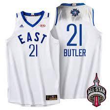 Баскетбольная майка All Star Game 2016 Toronto № 21 Батлер Джимми ВОСТОК белая SWINGMAN