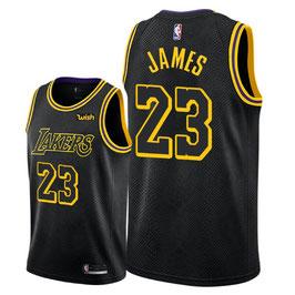 Лос-Анджелес Лейкерс  № 23 Леброн Джеймс черная баскетбольная майка NBA