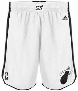 Баскетбольные шорты НБА Майами Xит белые-белые SWINGMAN REV30