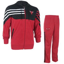 купить разминочный костюм НБА команды Чикаго Булс цвет красный/черный