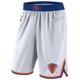 Баскетбольные шорты Нью Йорк Никс белые NBA SWINGMAN