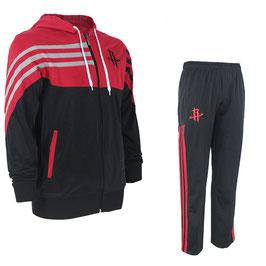 разминочный баскетбольный костюм НБА команды Хьюстон Рокетс цвет черный