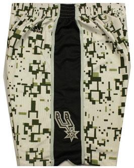 Баскетбольные шорты НБА Сан Антонио Сперс камуфляж SWINGMAN REV30