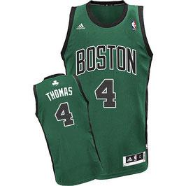 Баскетбольная майка Бостон Селтикс № 4 Айзея Томас черно-зеленая альтернативная SWINGMAN REV30